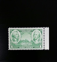 1936 1c Washington & Greene, Army - Navy Scott 785 Mint F/VF NH - $0.99