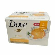 Dove Go Fresh Revitalize Beauty Bar Mandarin and Tiare Flower 2 Bar Moisturizing - $15.99