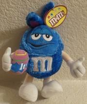 M&M Blue Fuzzy Easter Bunny Plush Stuffed 2004 - $17.81