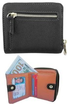 Embossed Grain Cowhide Leather Wallet - Coin Pocket - Card Slots - ID Wi... - $9.67