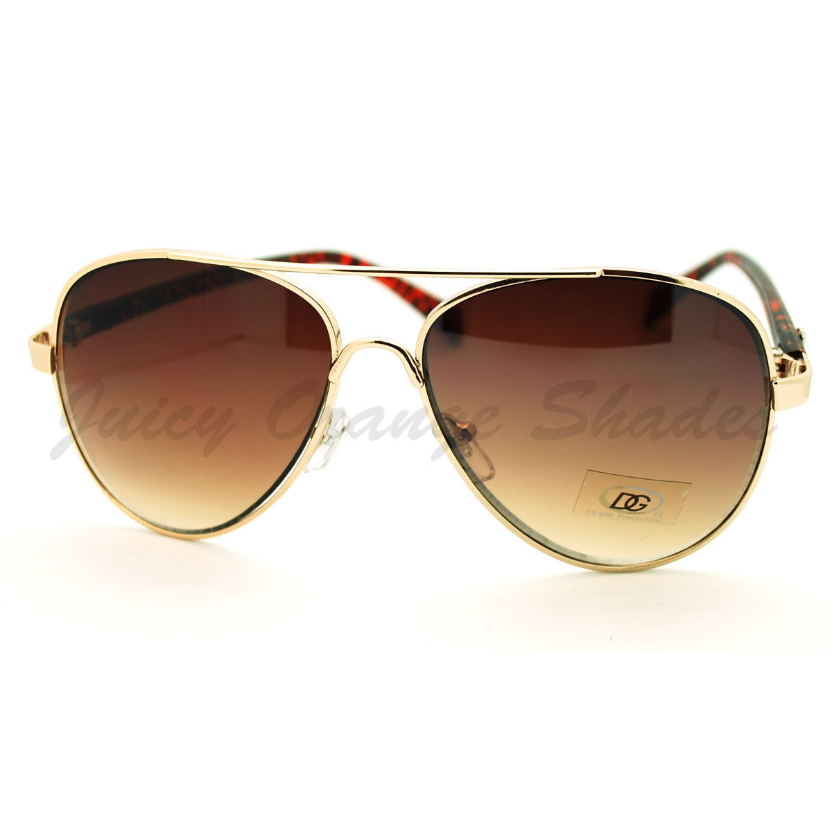 Womens Classic Aviator Sunglasses with Colorful Animal Prints