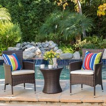 All Weather Outdoor Patio Set Pool Balcony Bistro Furniture Resin Wicker... - $299.99