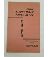 Vintage 1943 Emma Niedhammer Dance Revue Program Canteen Capers Luther W... - $8.90