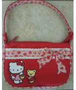Rare Vintage Sanrio Hello Kitty & Teddy Red Pur... - $18.00