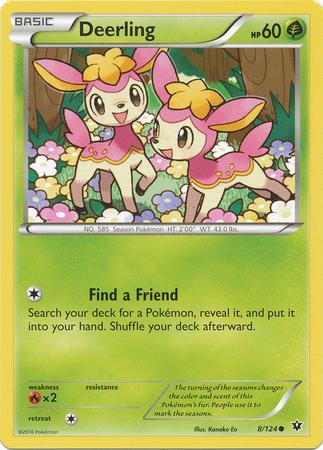 Deerling 8/124 Common Fates Collide Pokemon Card