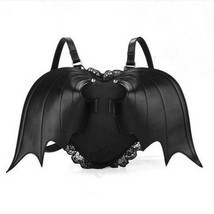 Halloween Devil Bat Wings Heart-shaped Shoulder Bag Personalized Backpack Handba image 1