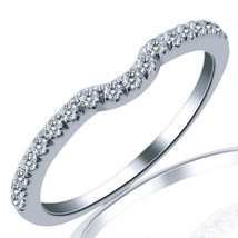 18k White Gold 0.20 Carat Diamond Women's Wedding Anniversary Band Ring - £396.53 GBP