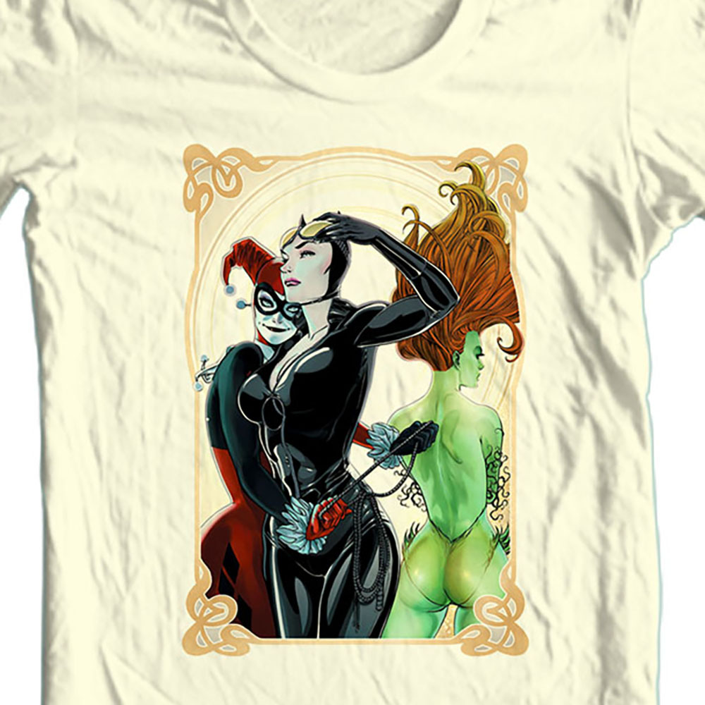 Gotham city sirens bat man girl villians harley quinn ivy t shirt  bm2260