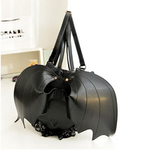 Halloween Devil Bat Wings Heart-shaped Shoulder Bag Personalized Backpack Handba image 2