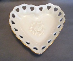Lenox  Ivory China Pierced Heart Trinket  Jewel... - $4.99