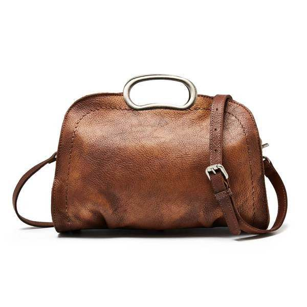 Sale, Vegetable Tanned Leather Satchel Bag, Handmade Women Bag, Designer Leather image 1