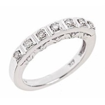0.30 Carat F-VS Vintage Design Diamond Wedding Anniversary Band 14k Whit... - £420.37 GBP
