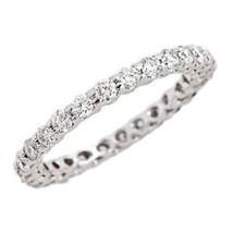 1.30ct G-SI Diamond Eternity Women's Wedding Anniversary Band 14k White Gold - $1,143.60