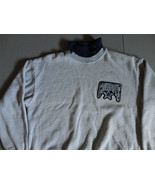 VINTAGE Majestic Gray Embroidered Dallas Cowboys NFL Turtle Neck Sweatsh... - $32.51
