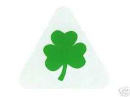 Irish Shamrock Highly Reflective Green Shamrock Helmet Decal - $3.26