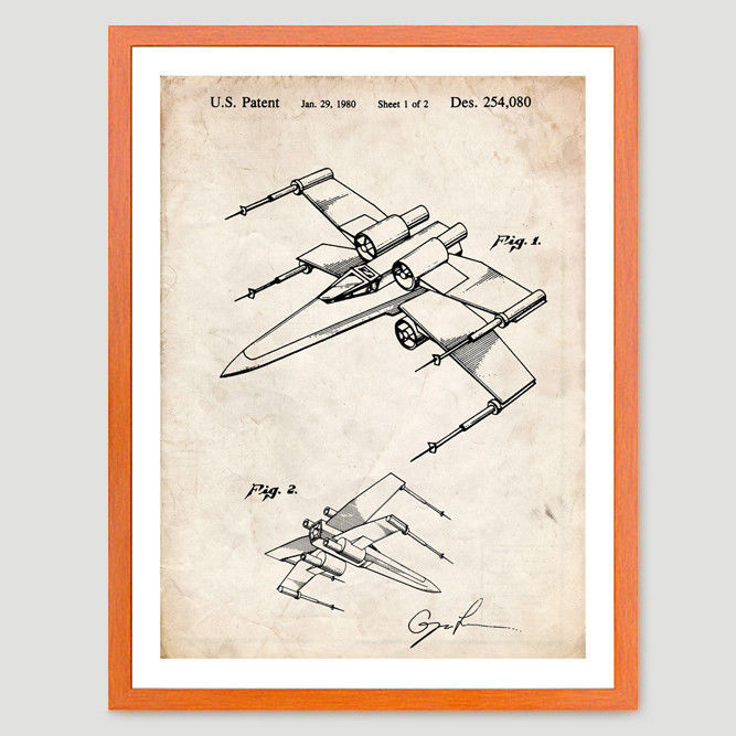 A0 A1 A2 A3 A4 Sizes Star Wars X Wing Fighter Framed Giant CANVAS PRINT