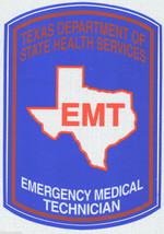 """Texas Emergency Medical Technician Highly Reflective Decal - 3 1/2"""" X 5"""" - $7.87"""