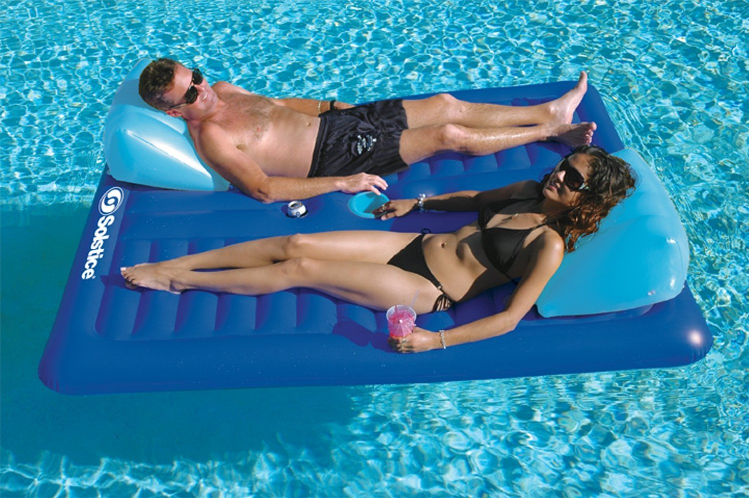 Swimming Pool Float Floating Mattress Inflatable Lounger 2 Person Unique Design Floats Rafts