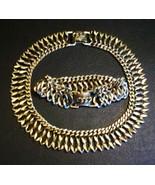 You Know You Want It! Bartek Gold Necklace & Bracelet Demi Parure - Chai... - $30.00