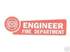 Engineer Fire Department Highly Reflective Red Vinyl Decal - $1.48
