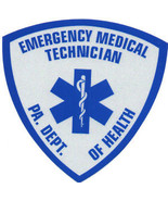 "PENNSYLVANIA EMERGENCY MEDICAL TECHNICIAN HIGHLY REFLECTIVE DECAL - 2"" - $4.99"