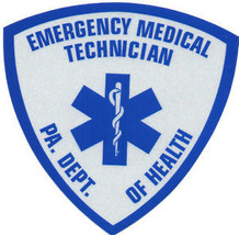 "Pennsylvania Emergency Medical Technician Highly Reflective Decal 3.5"" X 3.5"" - $6.92"