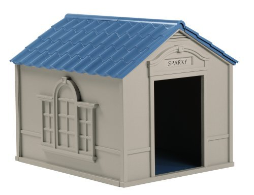 Outdoor Dog House Pet Puppy Shelter Bed Large Deluxe Doghouse Kennel