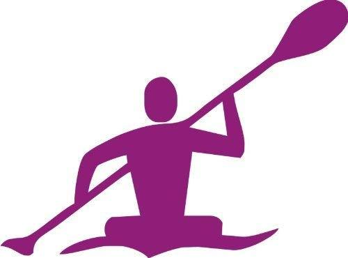 "Primary image for Kayak Kayaking River Ocean Vinyl Decal - size: 5"", color: PURPLE - Windows, Wall"