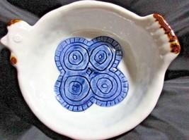 "Otagiri Happu Handcrafted Painted Porcelain Chicken Plate Bowl Hen 7""W X... - $12.82"