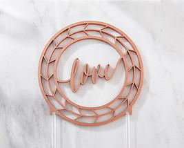 Geometric Copper Love Wedding Cake Topper Industrial Bridal Shower Gift ... - $21.76