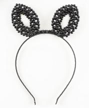 Beaded Faux Pearl Handmade Bunny Rabbit Ears Headband Halloween Ears - $16.80