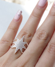 Star Explosion Silver Tone Everyday Ring - $16.00