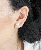 Traditional White Pearl Element Fashion Stud Earrings / Free Gift With Purchase  - $18.00
