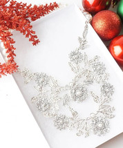 The Heiress Crystal and Pearl Bib Statement Glamorous Fashion Necklace - $23.00