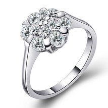 Small Swarovski Element Cluster Crystal Jewelry Ring - $22.00