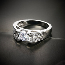 High Quality Single Round Cut  Stone with Zircon Engagement/Promise Ring - $23.00