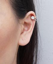 Ear Cuff Gold or Silver Toned Minimal Crystal D... - $9.20