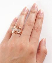 Unique Geometric Buckle Design Classy Gold Fashion Women's Ring - $16.00