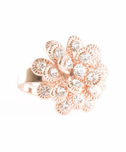Marigold Inspired Rose Gold Plated Ring With Swarovski Element Crystals image 3