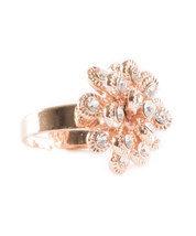 Marigold Inspired Rose Gold Plated Ring With Swarovski Element Crystals image 4