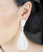 Ice Queen Silver Toned Genuine Rhodium Plated Marquise Cut  Zirconia Tear Drop D - $24.00