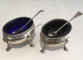 Set of 2 George III Silver Salt Cellars with Spoons Circa 1777 – 1781 - $1,230.00