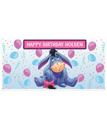 Eeyore Birthday Banner Personalized Party Backdrop Decoration - $23.88