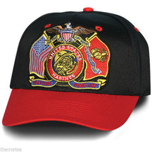MARINE CORPS USMC THESE COLORS NEVER RUN FLAG EAGLE  MILITARY HAT CAP - $34.64