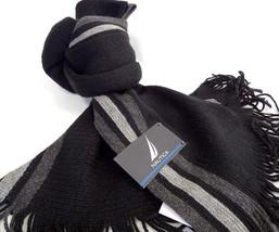 NAUTICA Men's Scarf Black Multi 100% Acrylic One Size #13117 - New! - $35.00