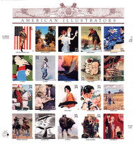 USA Stamp Sheet AMERICAN ILLUSTRATORS 0.34 X 20 USPS 2000 - MINT - $28.00