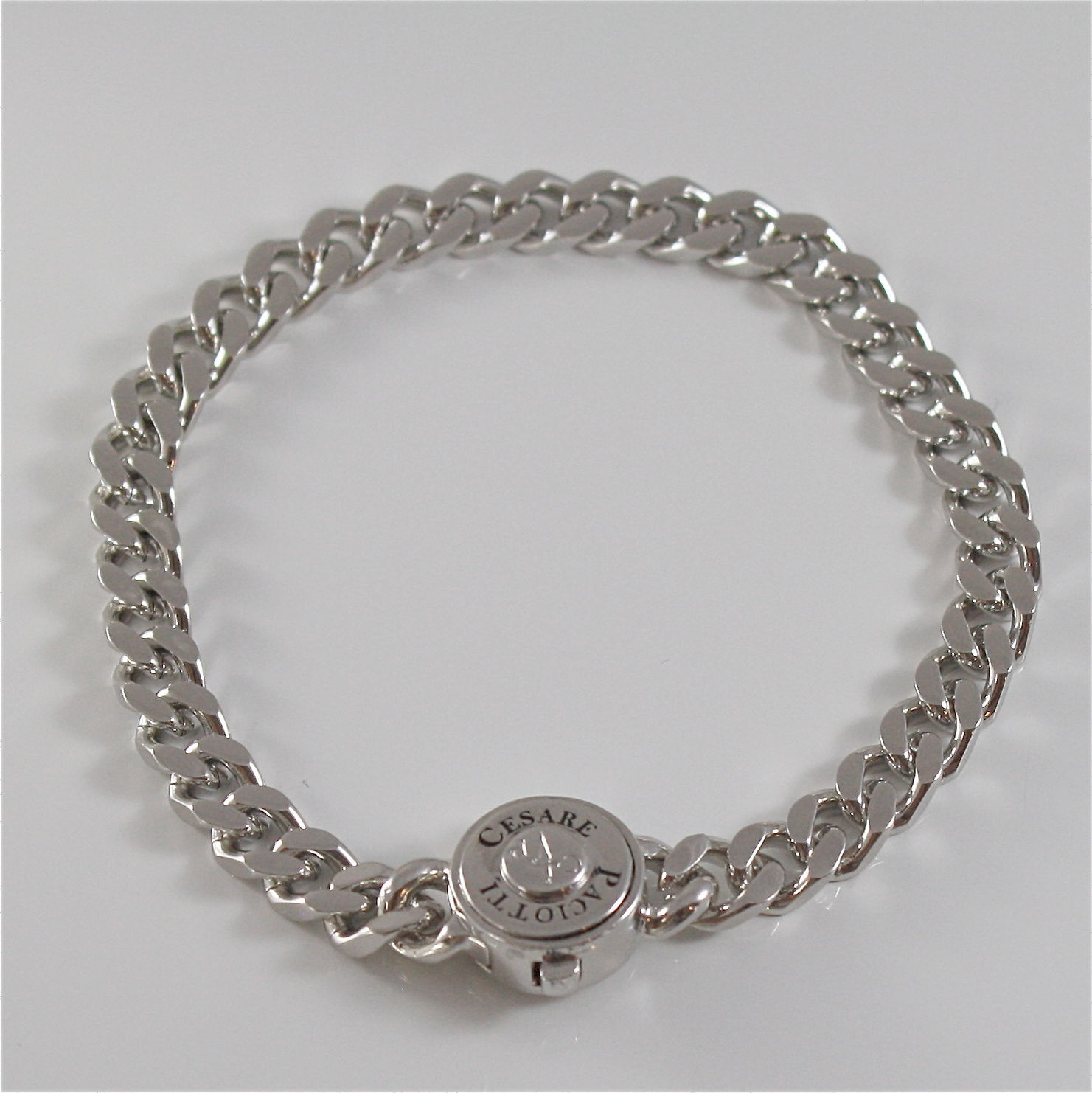 925 SILVER AND STAINLESS STEEL BRACELET BY CESARE PACIOTTI 20 CM JPBR1269B