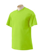 Safety Green Medium Gildan G200 2000 T-shirt Ansi Osha high visibility 2... - $5.54