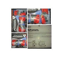 RACING RED GRAY BRAKE PEDALS PADS MANUAL TRANSMISSION CUSTOM CAR BRAKE P... - $13.97