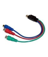 7 Pin S-Video to 3 Female RGB Component HDTV Adapter Cable New Ships fro... - $0.99